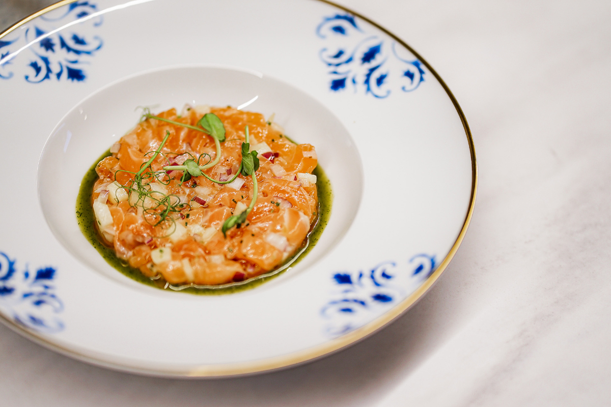AL LADO Restaurant, Norwegian salmon tartare
