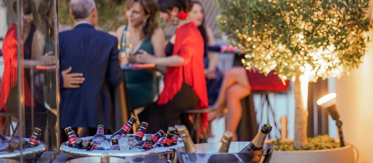 Evento privado en la terraza del Hotel EME Catedral Mercer
