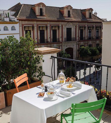 Breakfast in room at EME Catedral Mercer Hotel